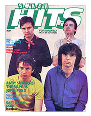 XTC on the cover of a 1980 issue of Smash Hits