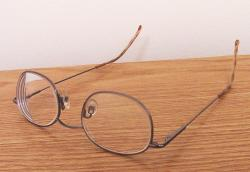 A pair of more traditional glasses