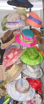 There are many different styles of hat.